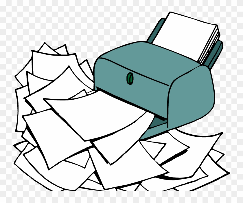 Save Paper Cliparts - Wasting Paper Clipart #28978