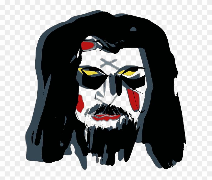 Mask, Face, War Paint, Raggery, Clown, Devil - Mask #29029