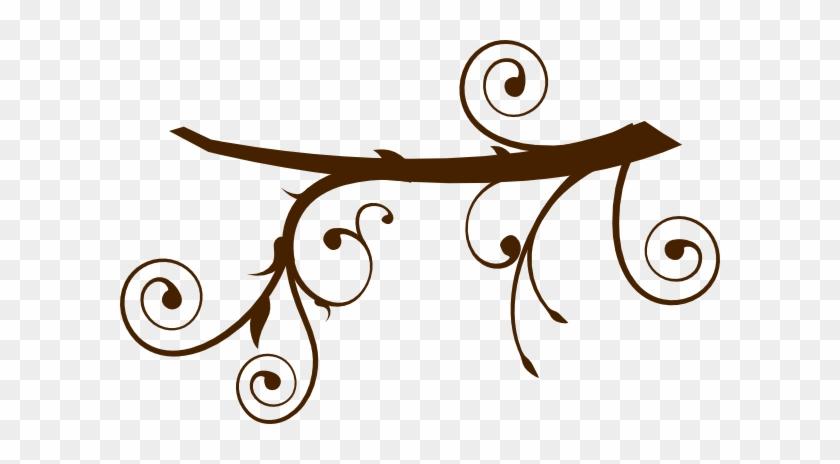 Brown Branch Clip Art - Brown Tree Branch Clip Art #29045
