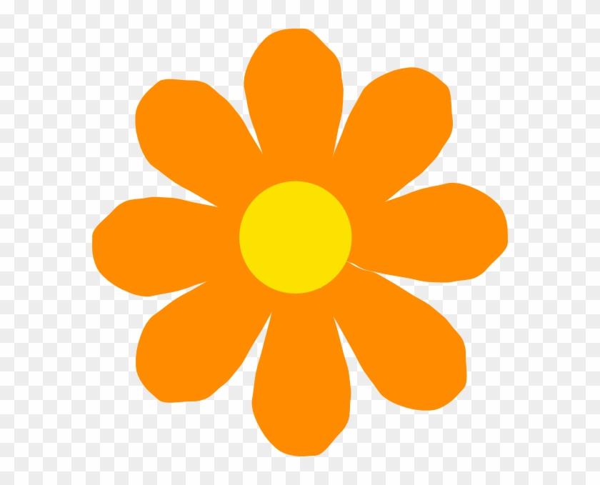 Bright Orange Flower Clip Art - Flower Clipart #29050