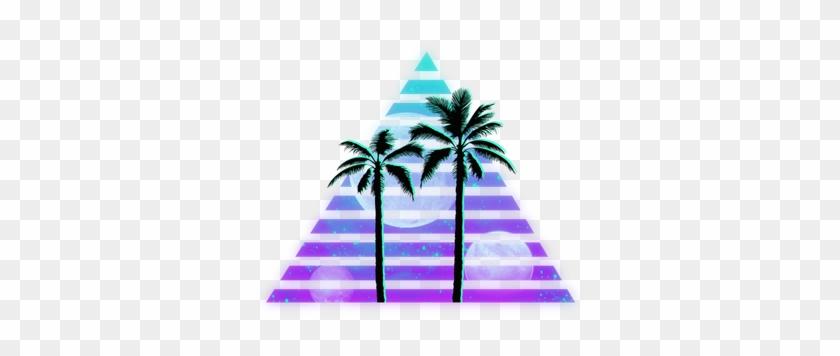 Grunge Palmtree Vapor Vaporwave Aesthetic Vaporwaveaest Palm Tree Silhouette Clip Art Free Transparent Png Clipart Images Download
