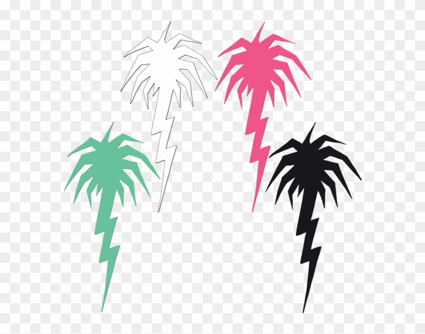 Lightning Palm Tree Diecut Sticker Pack - Capita Spring Break Slush Slasher Snowboard (length: #29070