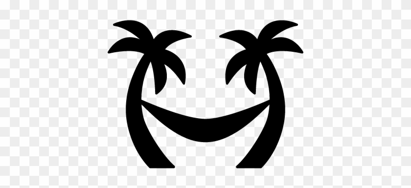 Palm Trees Hammock Vector - Hammock Icon #29097