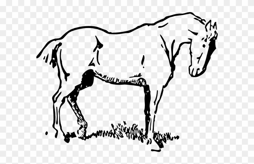Free Vector Small Eyed Horse Clip Art - Horse Clipart #29117