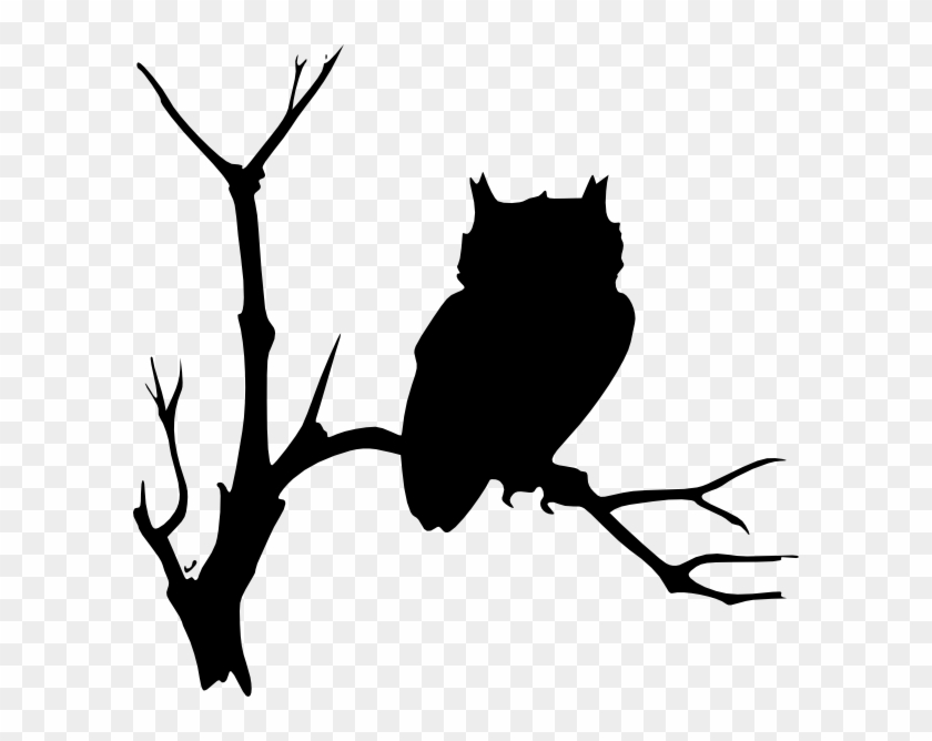Owl Sitting On A Branch Clip Art At Clker - Ad Maiorem Dei Gloriam #29159