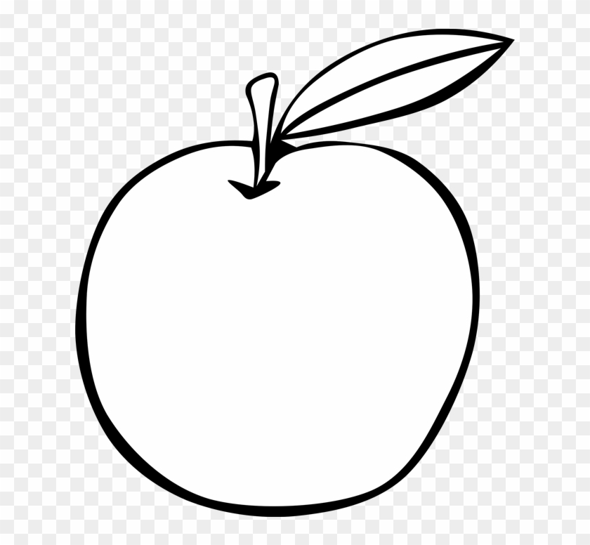 Apple Black And White Apple Fruit Free Clipart Names - Photography #29168