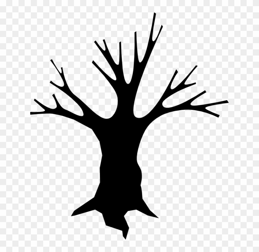Spooky Tree Clipart Outline - Cartoon Tree Scary #29185
