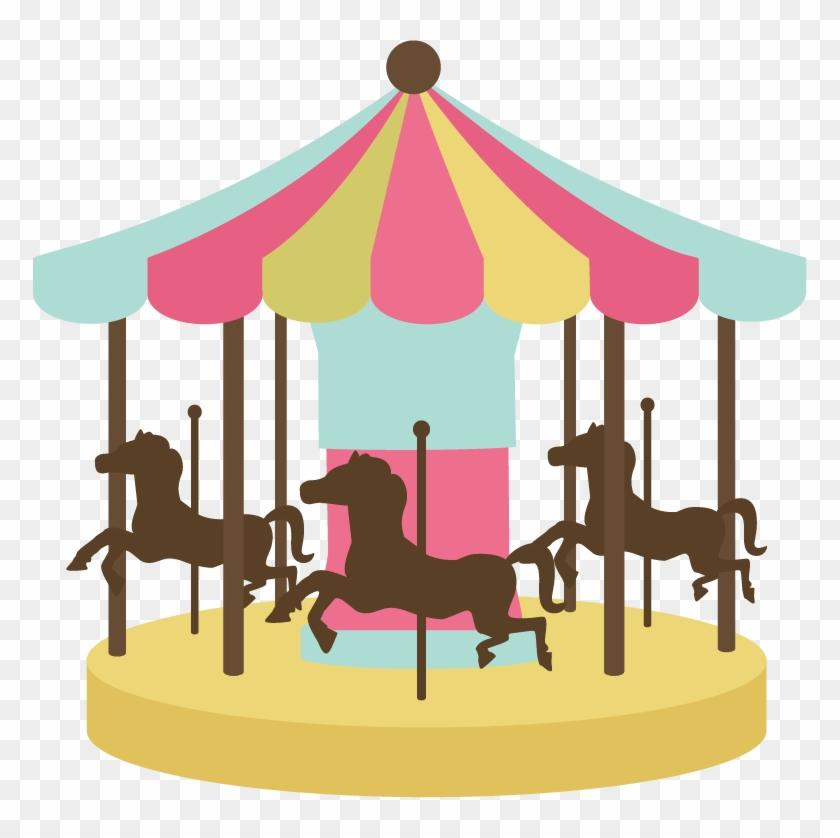 Carousel Clipart - Mary Go Round Clipart #29189