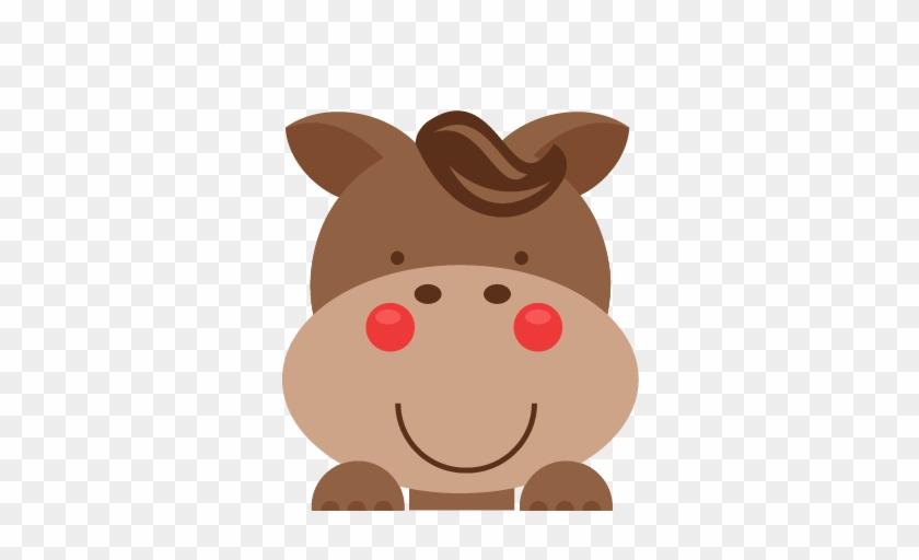 Peeking Horse Svg Scrapbook Cut File Cute Clipart Files - Dni Tygodnia Piątek Dla Dzieci #29194