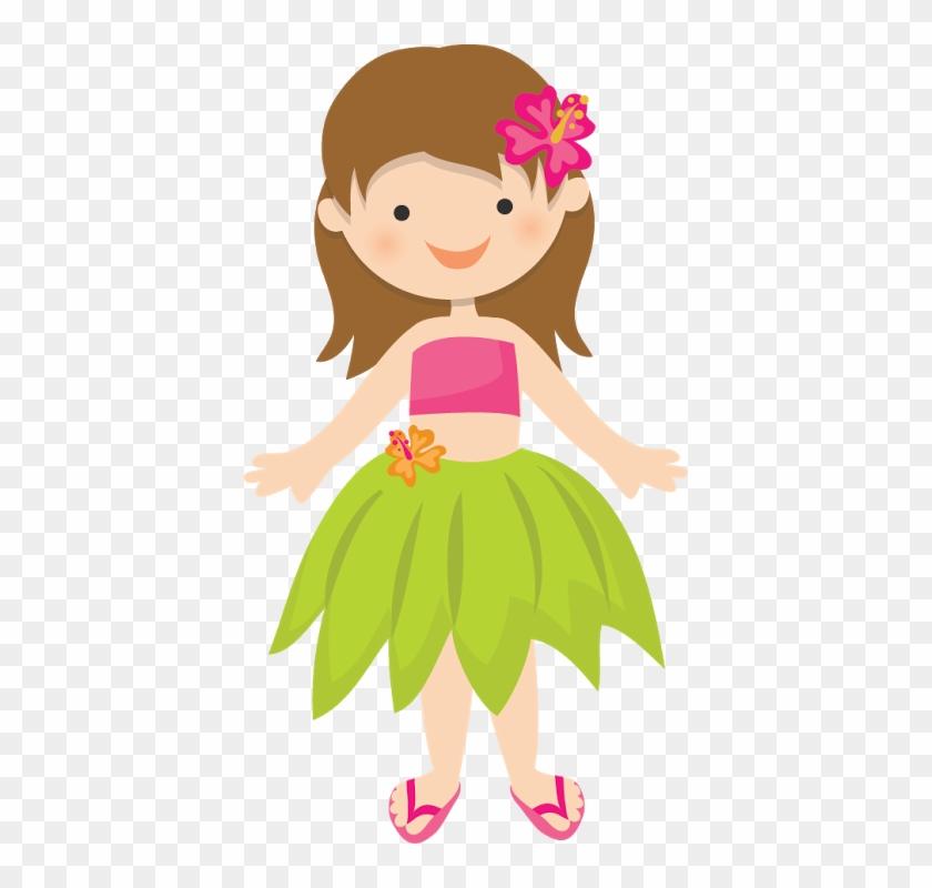 Hawaiian Aloha Tropical - Hawaiian Girl Png #29212