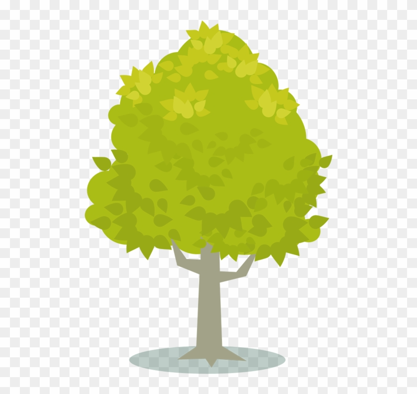 Tree With Green Leaves Clipart Arvore Amarela Desenho Vetor