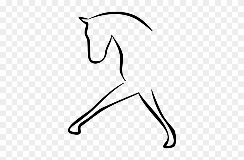Dressage, Stick Figure Of A Horse - Dressage Horse Clip Art #29241