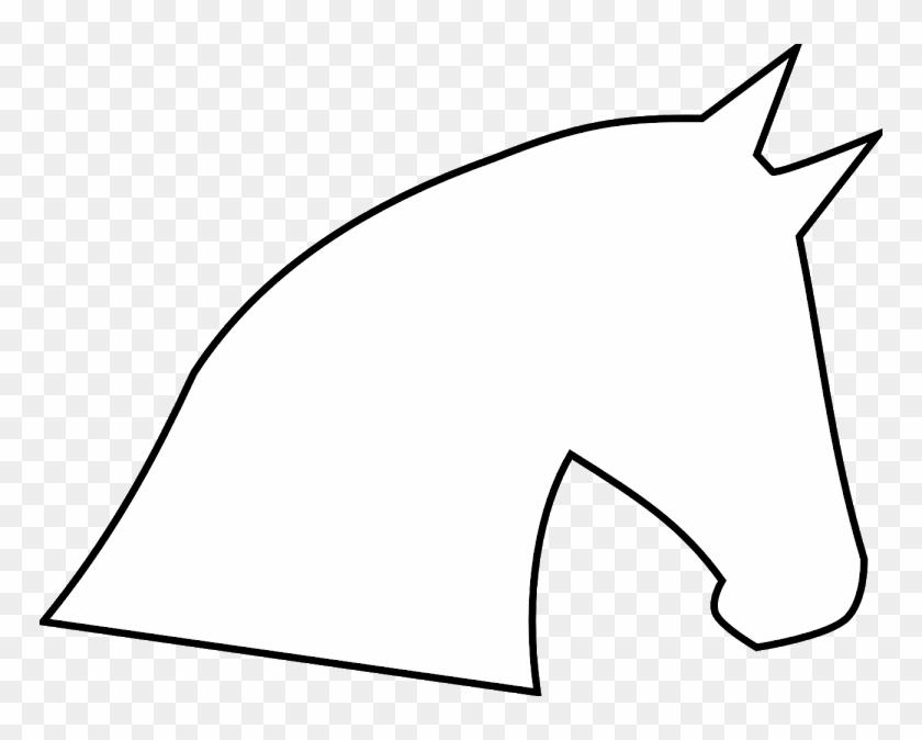 Horse Head Outline Clip Art - Horse Head Clip Art #29266