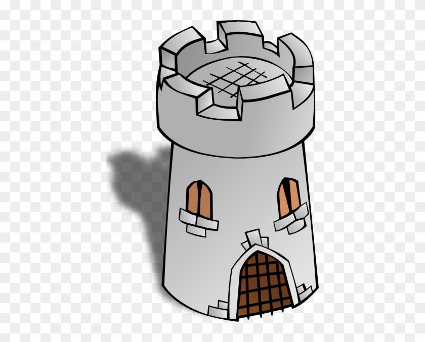 Free Vector Round Tower Clip Art - Watchtower Clipart #29281