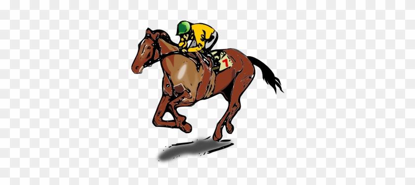 Horse Jockey Clip Art - Race Horse Shower Curtain #29290