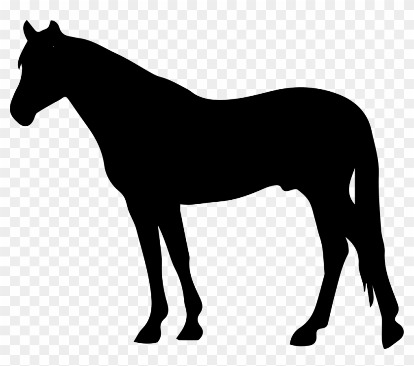 Horse Black Silhouette Facing To Left Svg Png Icon - Clipart Horse Silhouette #29297