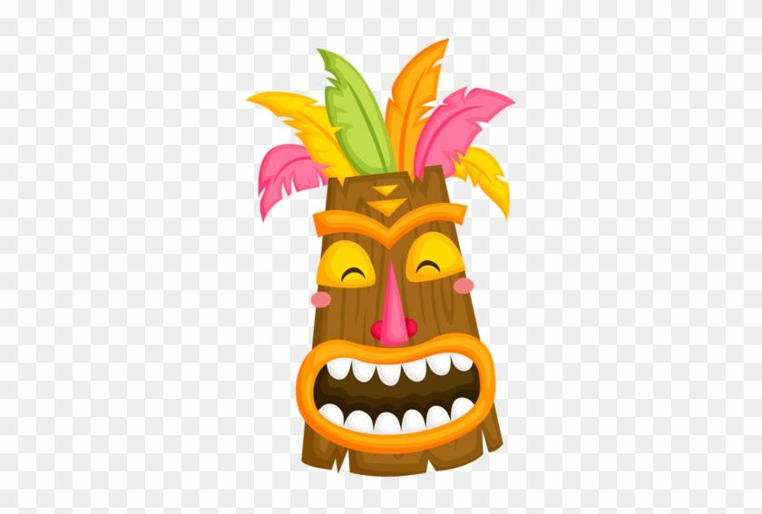 hawaiian anniversary cliparts tiki mask free transparent png