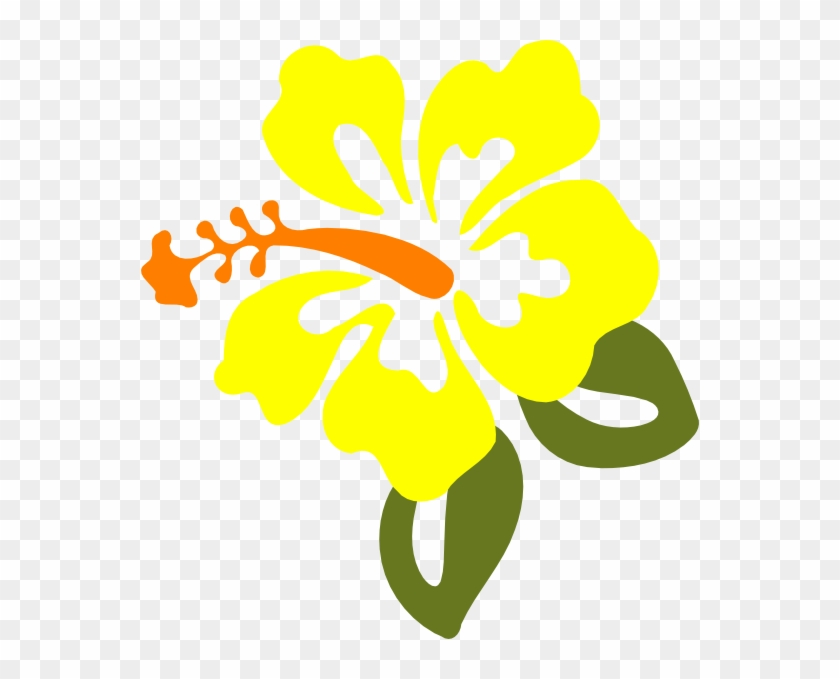 Yellow Hibiscus Clip Art At Vector Clip Art - Yellow Hibiscus Flower Clipart #29322