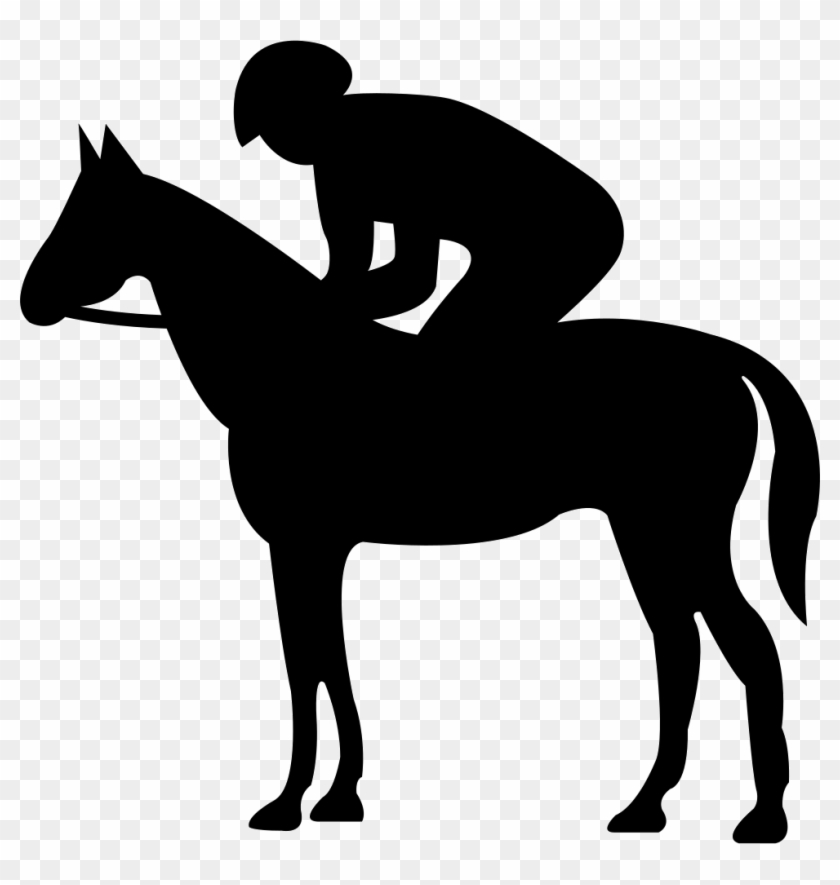 Quiet Horse With Jockey Silhouette Svg Png Icon Free - Caballo Y Jinete Animados #29373