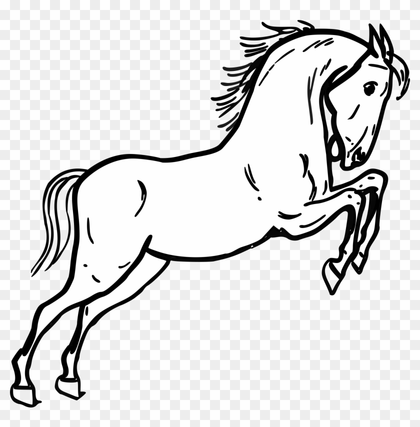 Horse Outline - Horse Clipart Black And White #29378