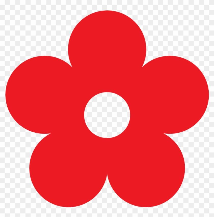 Red Flower Border Clip Art Free Clipart Images - Red Flower Clip Art #29437