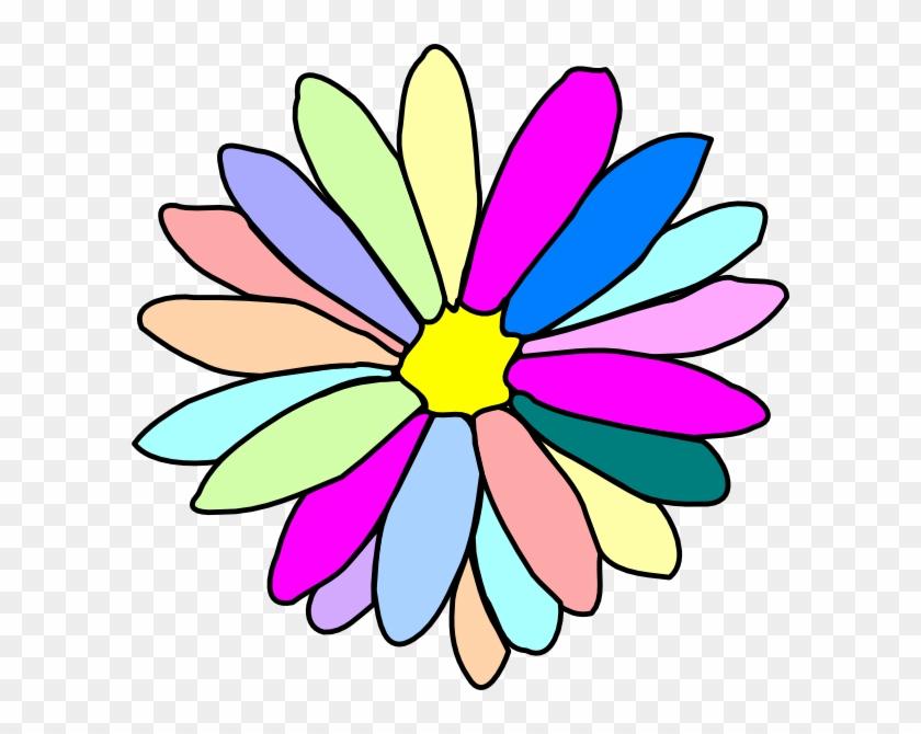 Colorful Flower Clip Art At Clker Com Vector Online - Flower Clip Art #29439