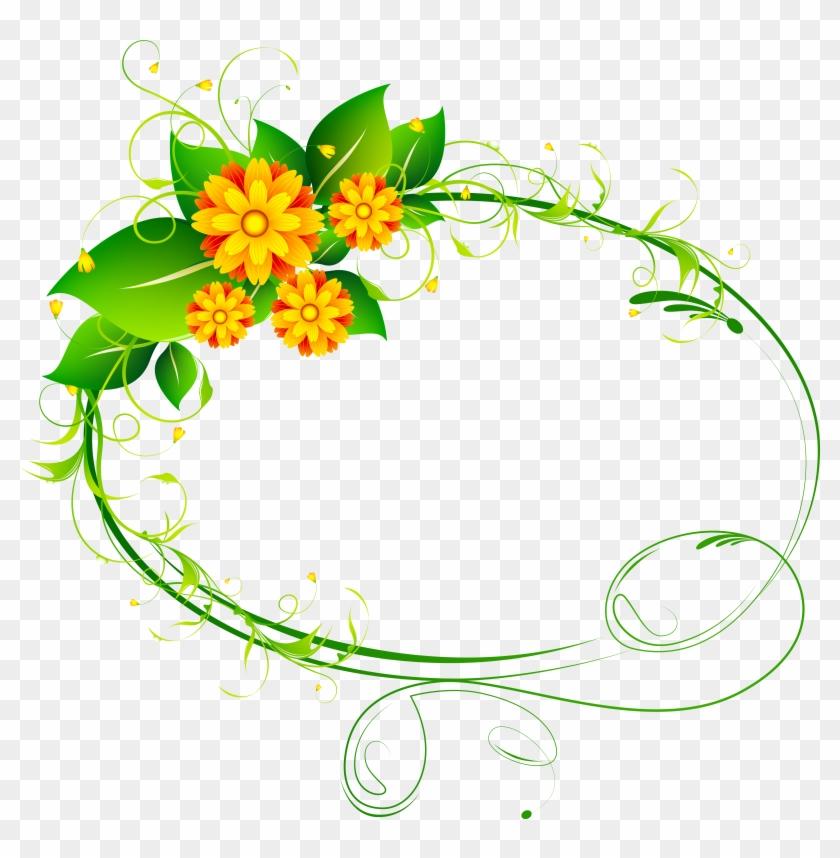 Floral Oval Decor Png Clip-art Image - Floral Oval Decor Png Clip-art Image #29481