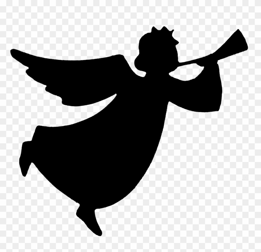 Angel Silhouette - Angel Png Black And White #29504