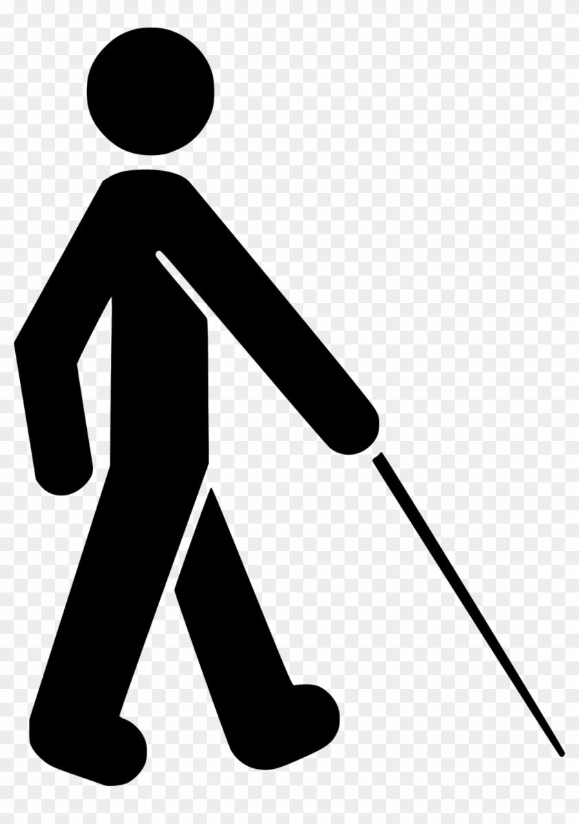 Free Vector Visually Impaired Symbol Clip Art - Blind Symbol #29526