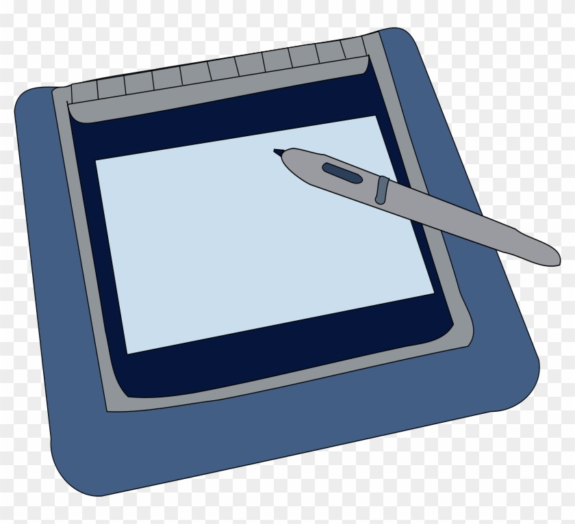 Free Vector Tablet Clip Art - Graphics Tablet Clipart #29539