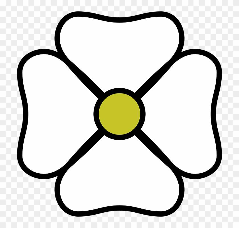 Free Vector White Flower Clip Art - Flor Branca Png Desenho #29554