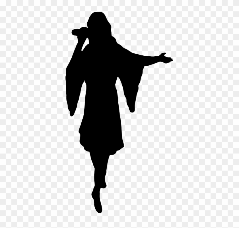 Cowgirl Silhouette, Silhouette Of Singer - Girl Singing Silhouette Png #29557