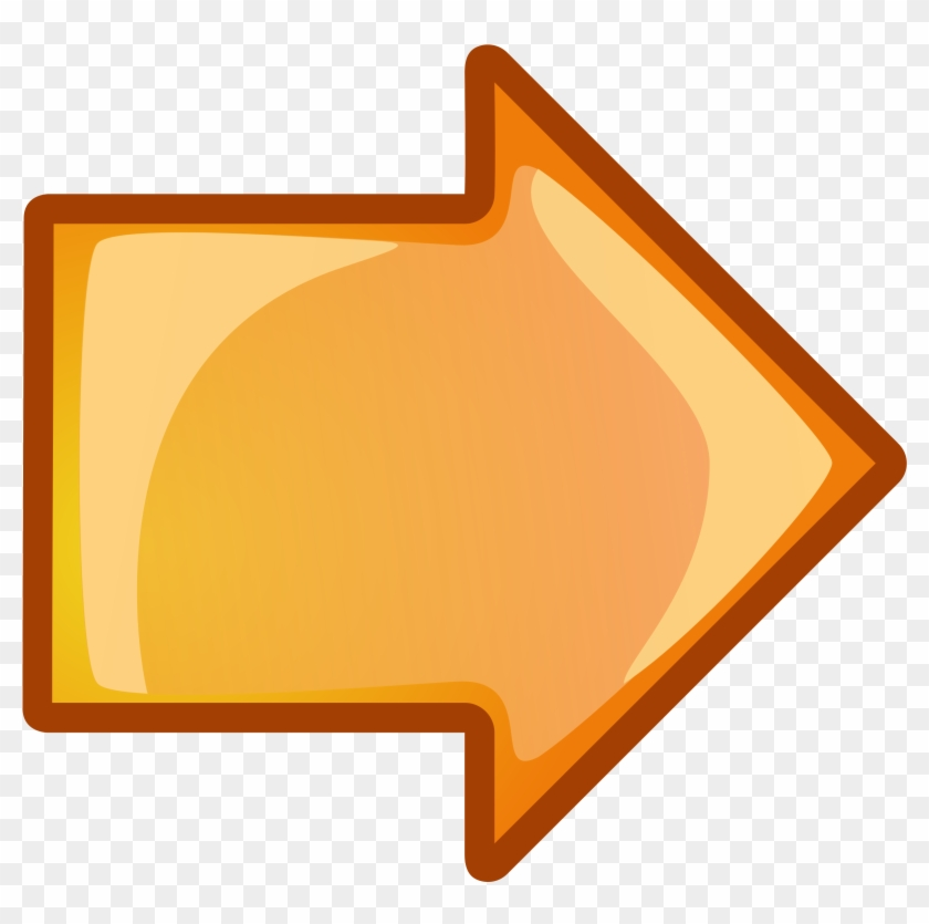 Free Vector Arrow Orange Right Clip Art - Orange Right Arrow #29584