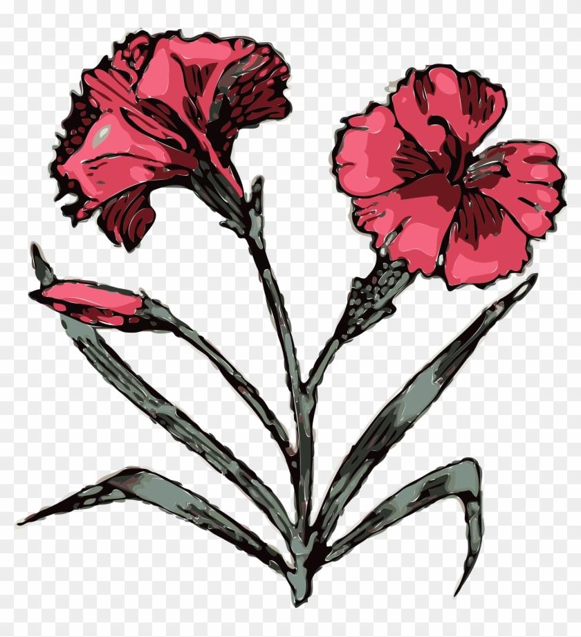 Similar Clip Art - Carnation Tattoo Designs #29589