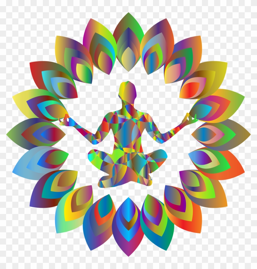 Clipart Prismatic Abstract Blossom Yoga Pose - Yoga Png Cliparts Transparent #29628