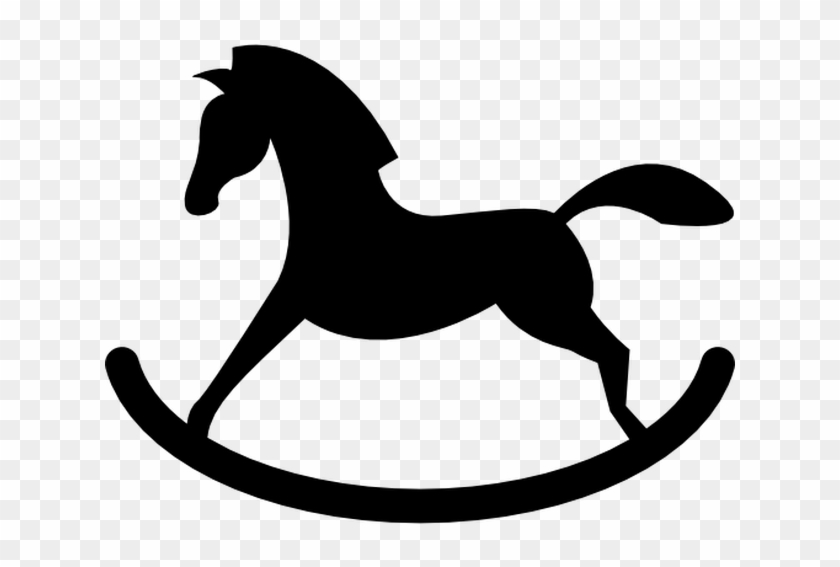 Rocker Horse Silhouette Free Vector Icons Designed - Rocking Horse Clip Art #29657