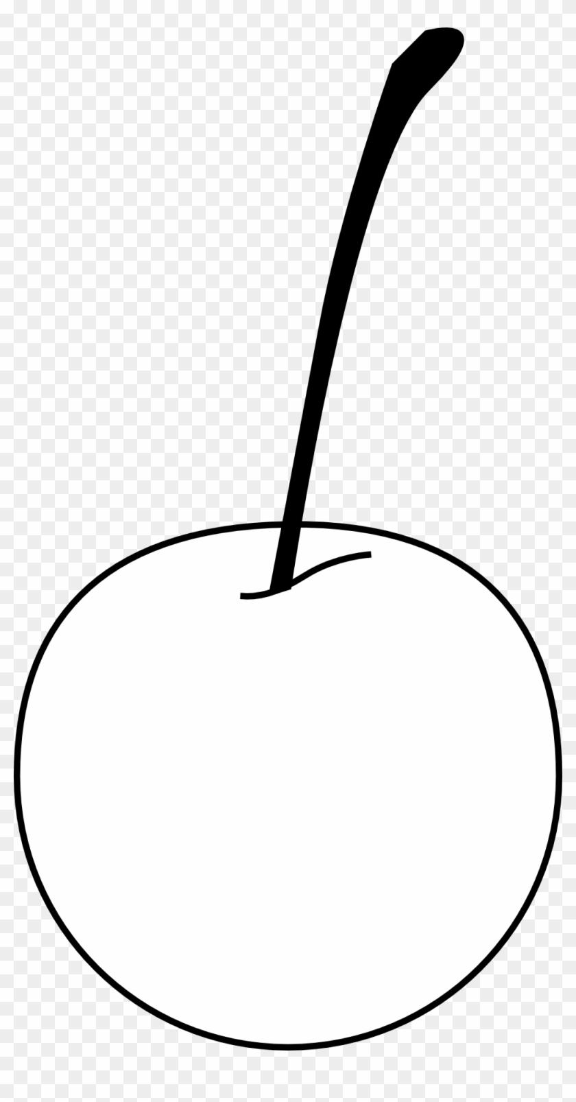 Cherry Black White Line Art 999px 60 - Apple #29664