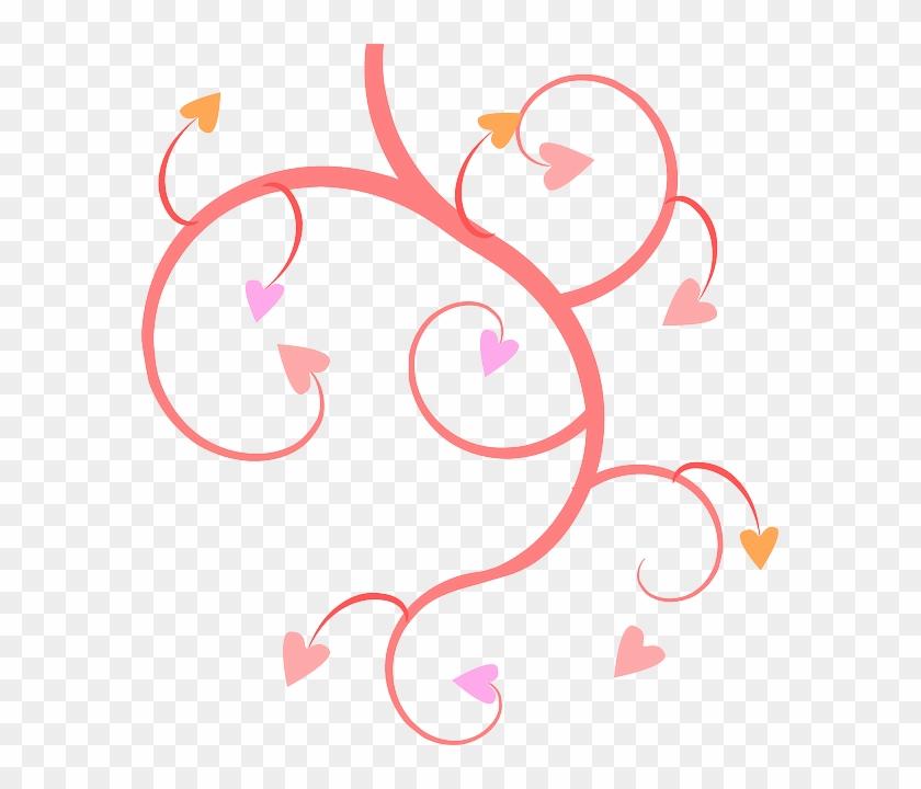 Wedding, Plants, Tree, Flower, Flowers, Cartoon - Hearts Clip Art Free #29668
