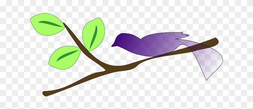 Tree, Branches, Cartoon, Gradient, Birds, Bird - Tree Branch Clip Art #29675