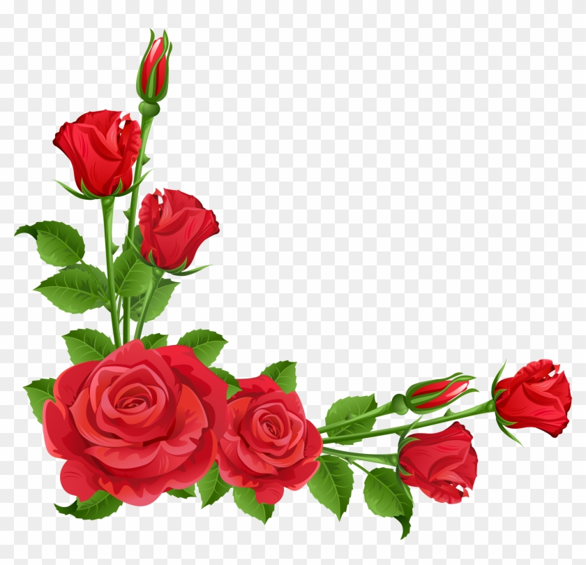 Roses Rose Clip Art Free Clipart Images 2 Clipartcow - Flower Frame Png #29694