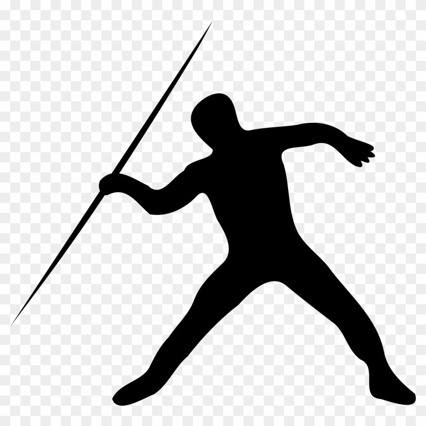 Track Clipart Black And White - Javelin Throw Clip Art #29689