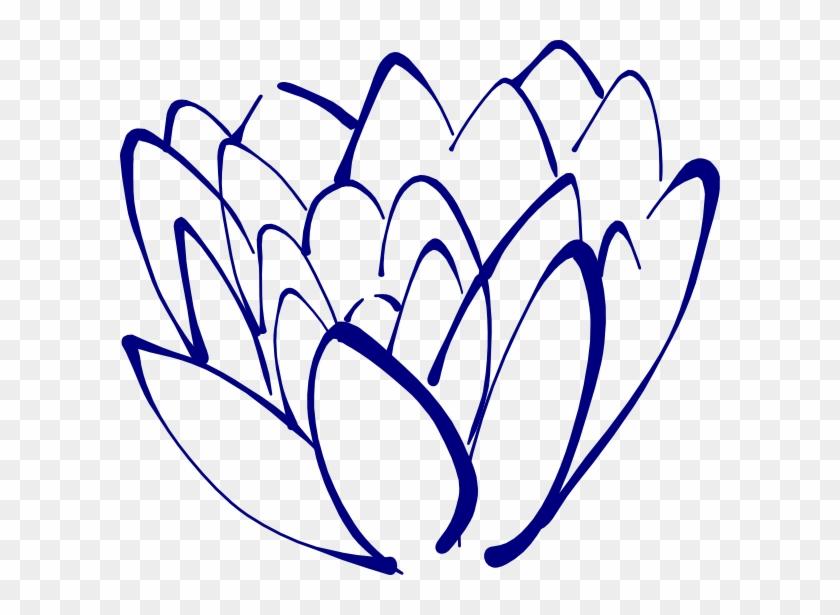 Blue Lotus Images Stock Photos Clipart Free Clip Art - Navy Blue Flower Clipart #29701