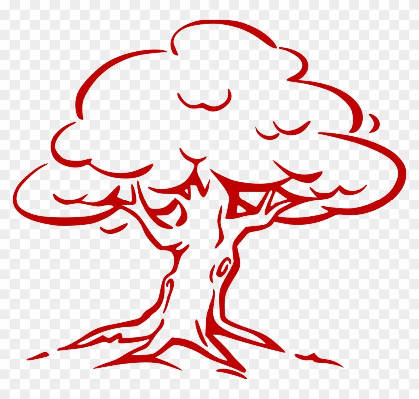 Tree Big Leaves Wind Plant Nature Old - Tree Outline #29713