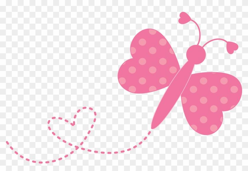 Cute Butterflies Png File Png Mart - Borboleta Desenho Rosa Png #29754