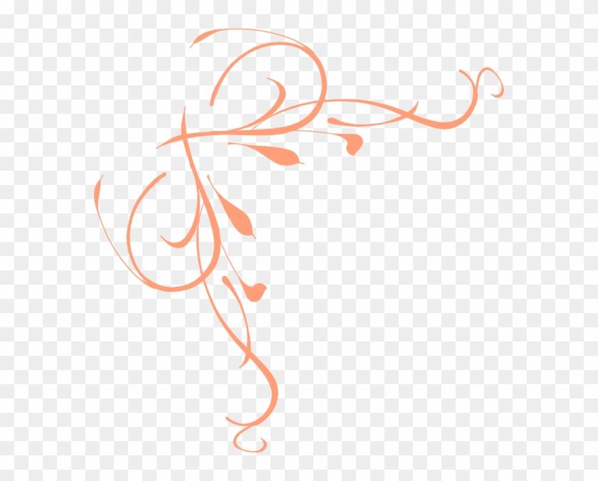 Peach Swirl Border Clipart - Thewatsonshop Omelette Burlap Throw Pillow #29799