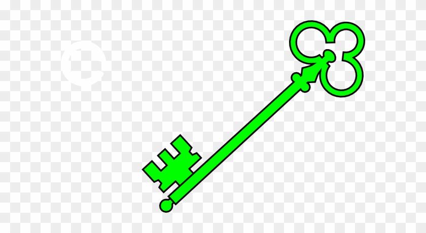 Green Old Key Clip Art - Green Clip Art Key #29895