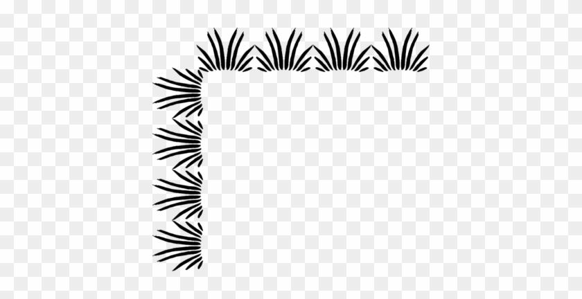 Grass Clip Art Border - Black And White Borders #29896