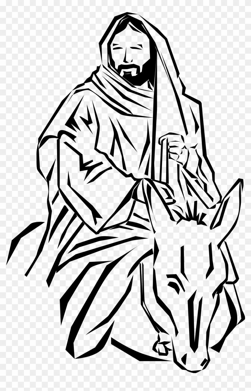 Gospel Of Matthew - Palm Sunday Jesus Clip Art #29938