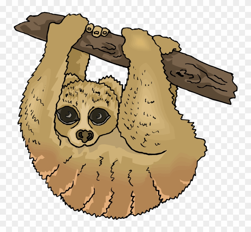 Free Sloth Clipart The Cliparts - Three Toed Sloth Clipart #29945