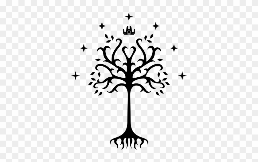 Clipart Black And White Tree - Tree Of Gondor Png #29952
